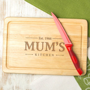 Established Kitchen Personalised Wooden Chopping Board - kitchen accessories