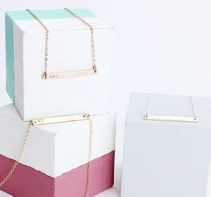 Minimalist Personalised Bar Necklace - style-savvy