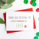 Teacher/Ta Thank You Card With Pencil