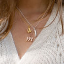 Personalised Lowercase Initial Charm Necklace
