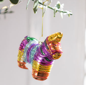 Glass Pinata Colourful Bauble