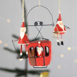 Father Christmas Ski Scenes - tree decorations