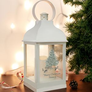 Personalised White Christmas Lantern - children's lights & night lights