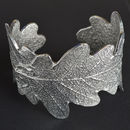 Pewter Oak Leaf Cuff