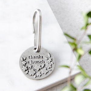 'Thanks A Bunch' Keyring - thank you gifts