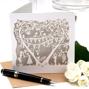 Diamond Wedding Anniversary Card Laser Cut Card - wedding, engagement & anniversary cards