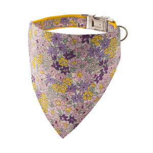 Yellow Bouquet Floral Bandana Dog Collar