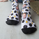 Beer Face Photo Socks