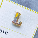 L Is For Love Pin Badge And Card