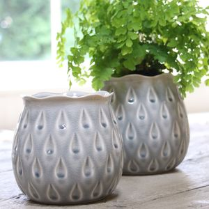 Grey Droplet Plant Pot
