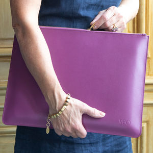 Personalised Laptop Case Made From Recycled Leather - laptop bags & cases