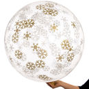 Giant Snowflake Christmas Confetti Filled Balloon