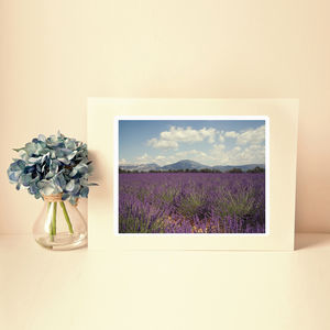 Provence Lavender Mountain Fine Art Photographic Print - photography & portraits