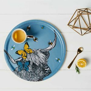 'Scottish Highland Cow' Birchwood Serving Tray - dining room
