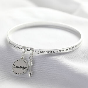 'Be Brave' Meaningful Word Bangle