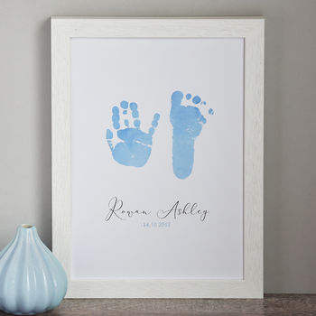 Personalised Child's Handprint And Footprint Print