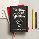 Personalised Notes Of A Genius Notebook