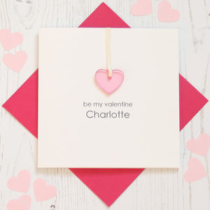 Personalised Valentine's Day Heart Card