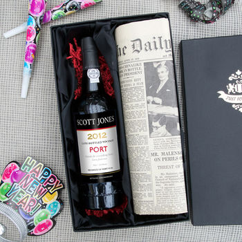 Personalised Port And Newspaper Set