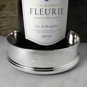 Silver-Plated Personalised Wine Coaster - tableware