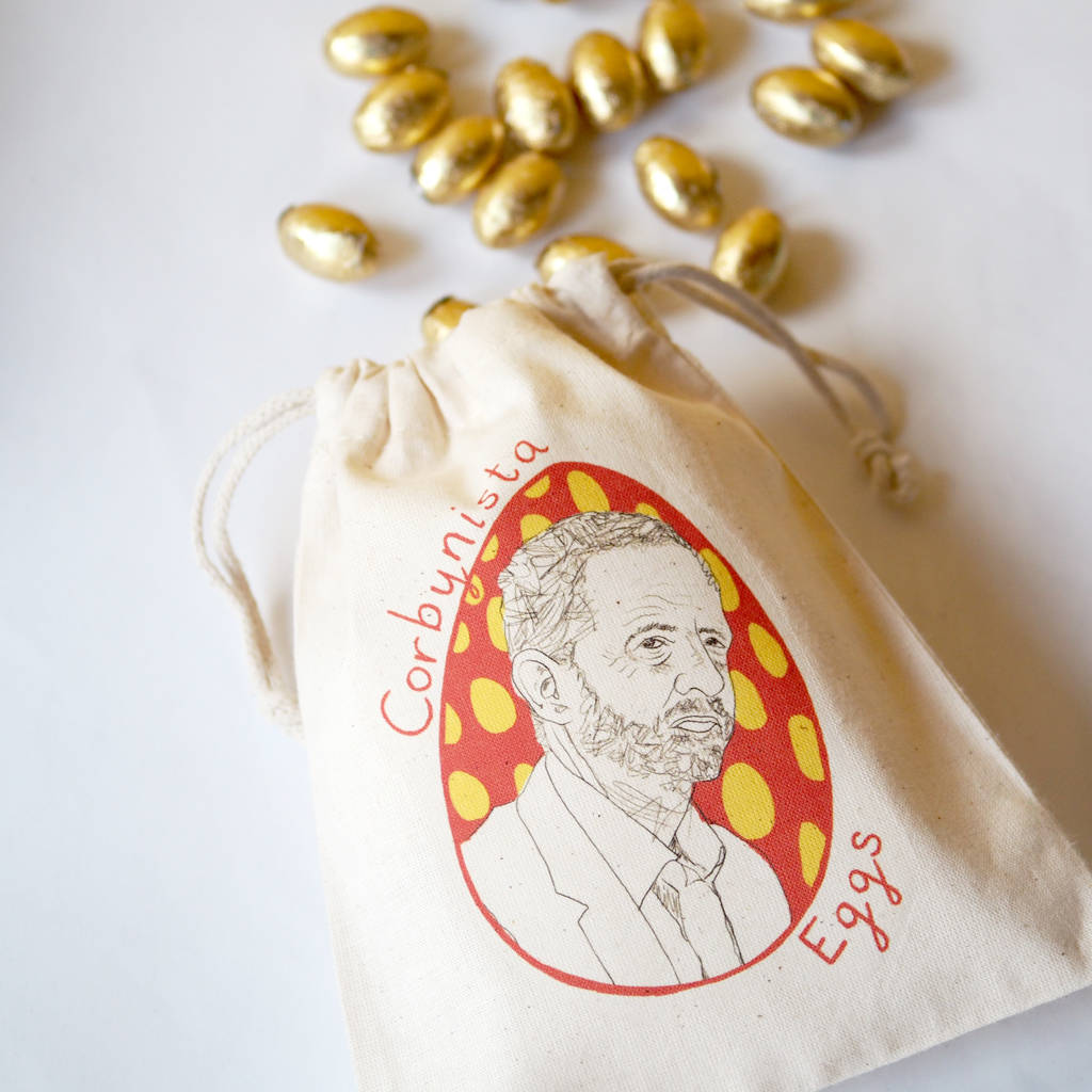 'Corbynista Eggs' Easter Bag With Chocolate Eggs
