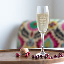 Ruby Wedding Champagne Glass