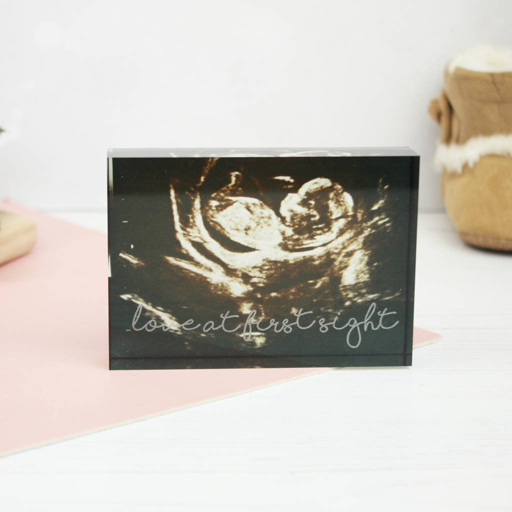 Your Baby Scan Acrylic Photo Block