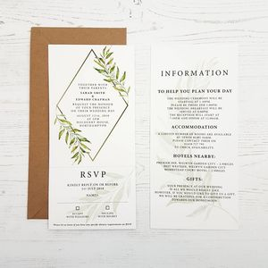 Wedding Stationery The Laurel Collection - invitations