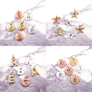 Add On J And S Jewellery Initial Charm - personalised jewellery