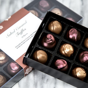 Salted Caramel Truffle Box - chocolates & confectionery