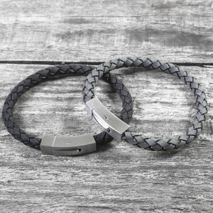 Personalised Brushed Steel Hidden Message Bracelet - bracelets