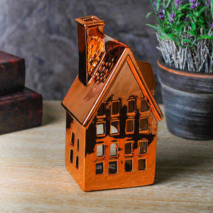 Copper Cottage Tealight Holder - new in home