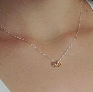 Sterling Silver Tiny Circles Necklace - the halo effect