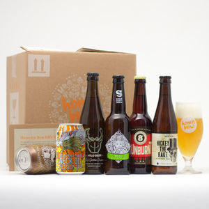 Craft Beers And Tasting Glass Sampler