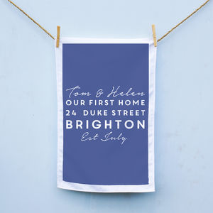 Personalised First Home Tea Towel