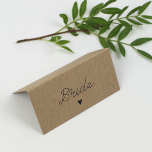 Country Charm Wedding Place Card - place cards
