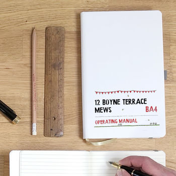 Personalised Street Sign Notebook