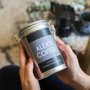 Personalised Name Coffee Gift In Tin