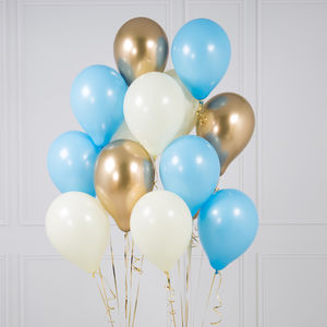 Pack Of 14 Baby Boy Party Balloons - childrens birthday