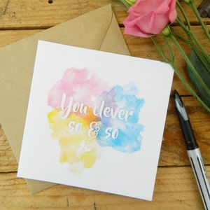 Congratulations Watercolour Card - congratulations cards