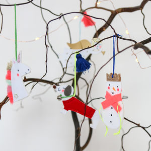 Perspex Or Wood Laser Cut Tree Decoration - tree decorations