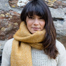 British Wool Scarf With Rolled Fringe