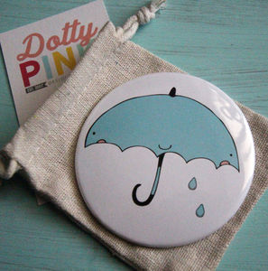 Umbrella Pocket Mirror 78mm 'Thinking Of You' - compact mirrors