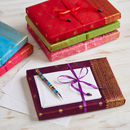 Handmade Sari Writing Set