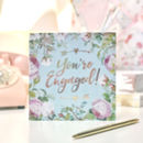 Engagement Botanical And Gold Greeting Card