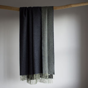 Wool Throw In Blue Or Green