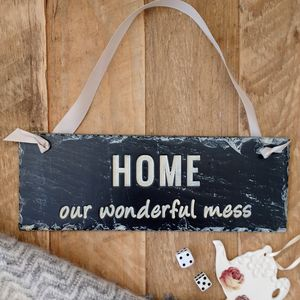 Engraved Slate Home Sign