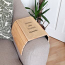 Personalised Message Wooden Sofa Armchair Tray