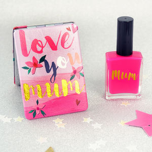 Compact Mirrors With Personalised Nail Varnish - gifts for friends