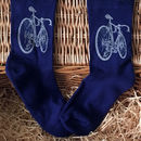 Bamboo Super Socks Hand Printed Bike